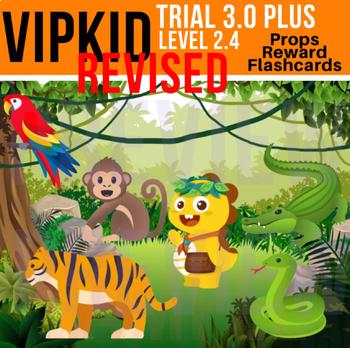 VIPKid Trial 3.0 PLUS - Level 2 Beginner Props, Jungle Reward, Flashcard Set