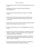 VIPKid Unit Assessment Worsheet - Level 4 Unit 7 Assessment 2
