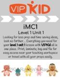 VIPKid iMC1 Unit 1 Lesson 1 Props