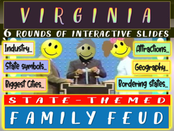 VIRGINIA FAMILY FEUD! Engaging game about cities, geography, industry & more