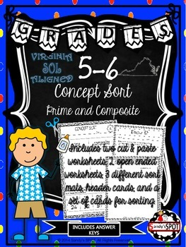 VIRGINIA SOL CONCEPT SORT GRADES 5-6 Prime and Composite TEST PREP