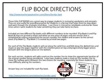 FLIP BOOK Rounding Whole Numbers VIRGINA SOL 3.1
