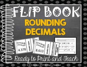 FLIP BOOK Rounding Decimals Virginia SOL 4.3 and 5.1