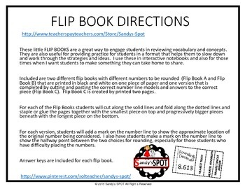 FLIP BOOK Rounding Decimals Virginia SOL 5.1