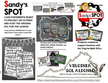 VIRGINIA SOL MATH BROCHURE FOR Sandy's SPOT at TPT