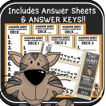 VIRGINIA SOL MATH Grade 3 CAT QUEST BUNDLE Number and Number Sense