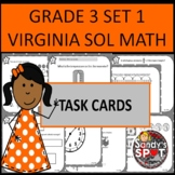 GRADE 3 VIRGINIA SOL MATH TASK CARDS SET 1 TEST PREP  VIRGINIA SOL MATH