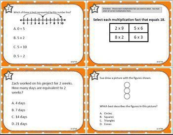 GRADE 3 VIRGINIA SOL  TASK CARDS BUNDLE
