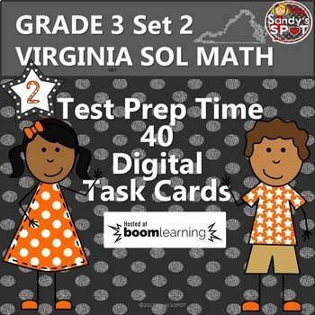GRADE 3 VIRGINIA SOL MATH TASK CARDS SET 2 TEST PREP  VIRGINIA SOL MATH