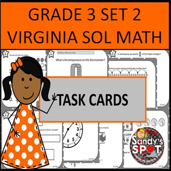 GRADE 3 VIRGINIA SOL MATH TASK CARDS SET 2 TEST PREP  VIRGINIA SOL MATH