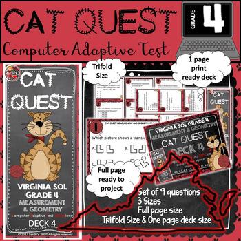 VIRGINIA SOL MATH Grade 4 CAT QUEST Cards MEASUREMENT AND GEOMETRY  Deck 4