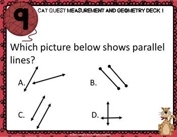 VIRGINIA SOL MATH Grade 4 CAT QUEST Cards Measurement and Geometry Deck 1