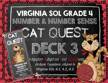 VIRGINIA SOL MATH Grade 4 CAT QUEST Cards Number and Number Sense Deck 3