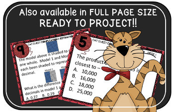 VIRGINIA SOL MATH Grade 4 CAT QUEST BUNDLE Probability, Patterns, Statistics,