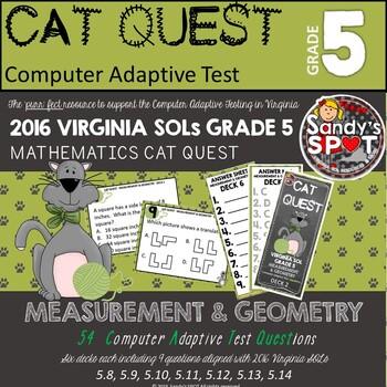 VIRGINIA SOL MATH Grade 5 CAT QUEST BUNDLE MEASUREMENT AND GEOMETRY