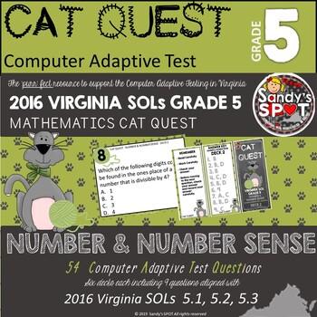 VIRGINIA SOL MATH Grade 5 CAT QUEST BUNDLE NUMBER AND NUMB