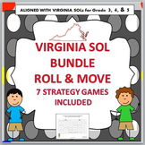 VIRGINIA SOL MATH ROLL & MOVE STRATEGY GAMES BUNDLE TEST PREP