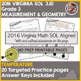 VIRGINIA SOL REVIEW 2016 Grade 3 Math MEASUREMENT AND GEOMETRY 3.10 TEMPERATURE
