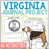 VIRGINIA History Project, Differentiated State Research Journal {EDITABLE}