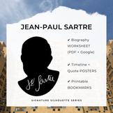 JEAN-PAUL SARTRE Signature Silhouette Posters