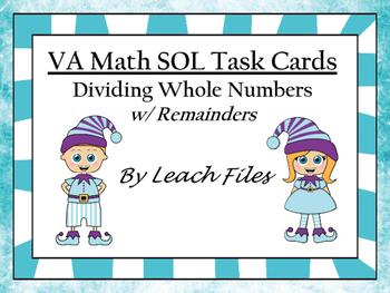 VIRIGINIA MATH SOL DIVISION TASK CARDS