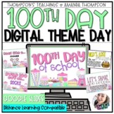 VIRTUAL 100th DAY of SCHOOL   THEME DAY   Google Slides   Distance Learning