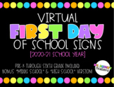 VIRTUAL First Day of School Signs! | Distance Learning