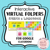VIRTUAL INTERACTIVE FOLDERS for Speech and Language Therapy