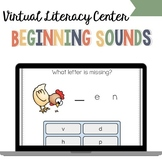 VIRTUAL Literacy Center | Beginning Sounds Boom Cards for