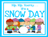 VIRTUAL SNOW DAY PARTY - Winter Themed Day - Google Slides - Distance Learning