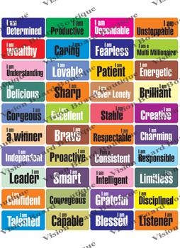 VISION BOARD Cut outs, printables, spiritual growth, motivation, spiritual goals