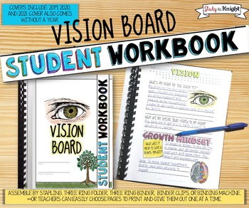 VISION BOARD STUDENT WORKBOOK, BACK TO SCHOOL ACTIVITY, IT'S ALSO A POSTER!