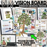 Vision Board Student Workbook, Goal Setting, Print and Distance Learning
