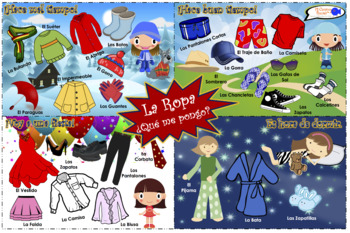 VISUAL AID/POSTER - Clothing in Spanish! (Use digitally or create a poster!)