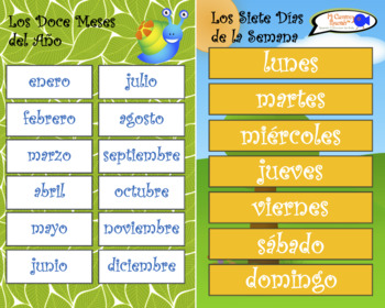 VISUAL AID/POSTER - Days & Months in Spanish!