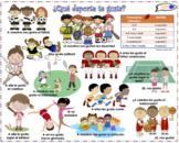 VISUAL AID/POSTER - GUSTAR & Sports! (Use digitally create