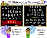 VISUAL AID/POSTER - Numbers & Alphabet in Spanish!