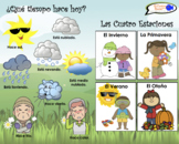 VISUAL AID/POSTER - Weather & Seasons in Spanish!