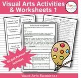 Visual Arts Activities & Worksheets - Self Portraits