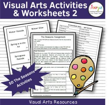 VISUAL ARTS -  50 Art Making Activities The Seasons