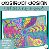 Abstract Designs Zentangle Coloring Pages