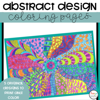 VISUAL ARTS - Abstract Zentangles to Color In