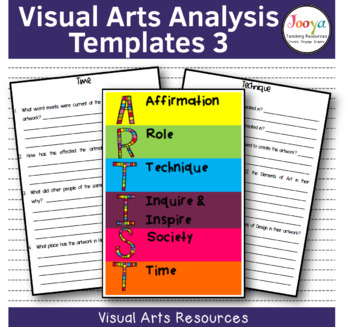 VISUAL ARTS - Art Analysis Template 3