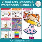 Visual Arts Lessons & Worksheets Bundle 1