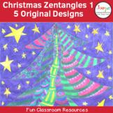 Christmas Coloring Zentangles