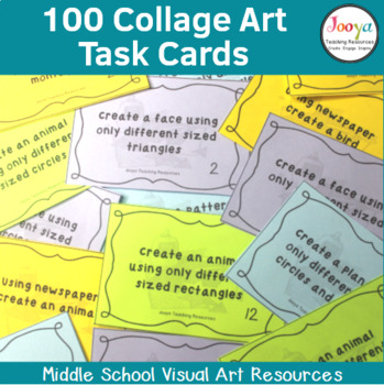 VISUAL ARTS - 100 Collage Art Task Cards