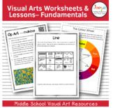 Visual Arts Worksheets and Lessons - Fundamentals