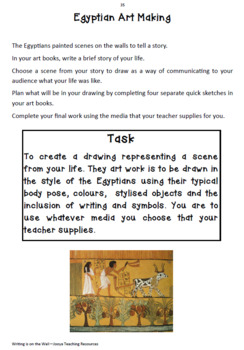 VISUAL ARTS - Writing is on the Wall - Unit of work with Reading Strategies