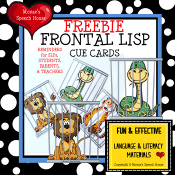 VISUAL CUES FRONTAL LISP SPEECH THERAPY FREE
