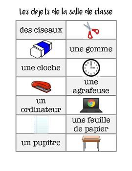 VISUAL DICTIONARY (FRENCH) | Les objets dans la salle de classe